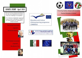 Brochure Comenius Fronte
